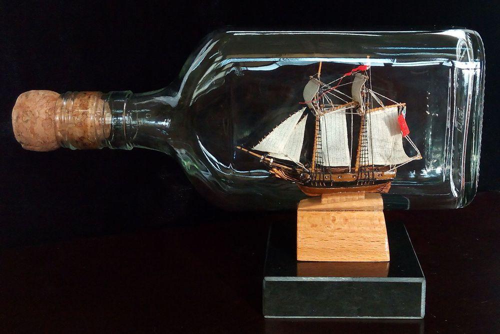 корабль, шхуна, ветер, море, ручная работа, художник