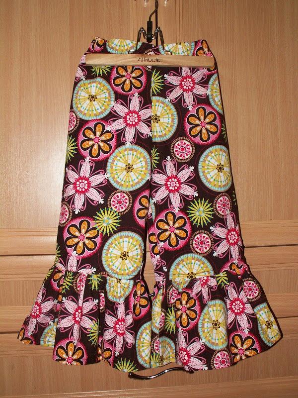 ruffle pants, цветочный рисунок