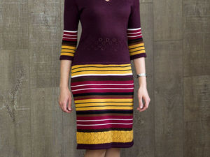 Аукцион  на стильное вязаное  платье !. Старт 2500 руб. Ярмарка Мастеров - ручная работа, handmade.