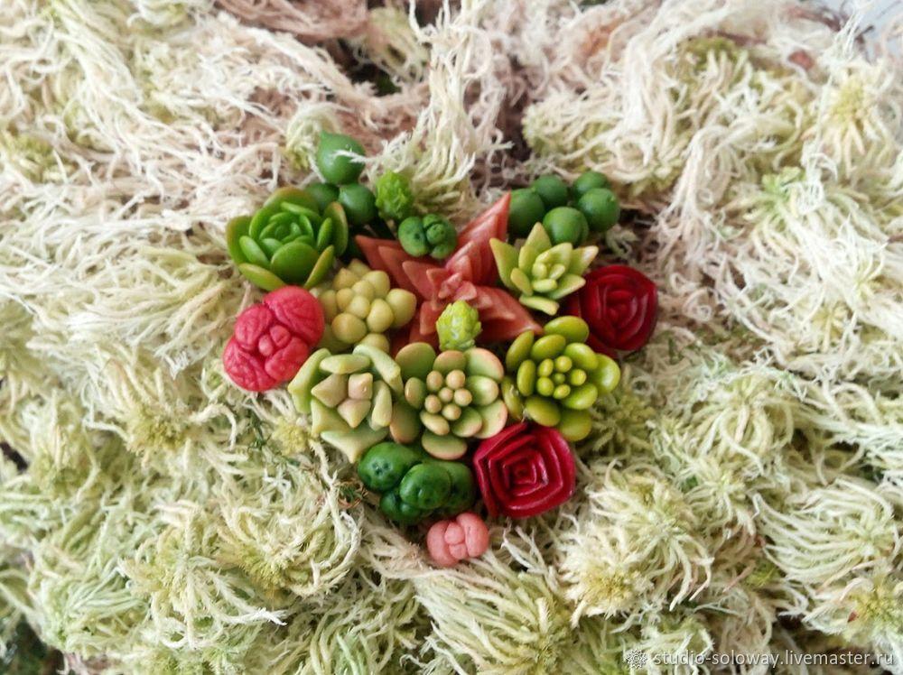 modeling, modeling realistic colors, succulents, training of modeling, cold porcelain, diy