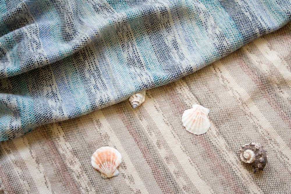 ручное ткачество, тканый палантин, меринос
