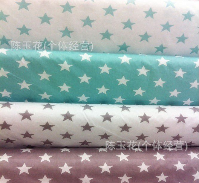хлопок для шитья, ткань для шитья, ткань для постельного, текстиль, ткань со звездами