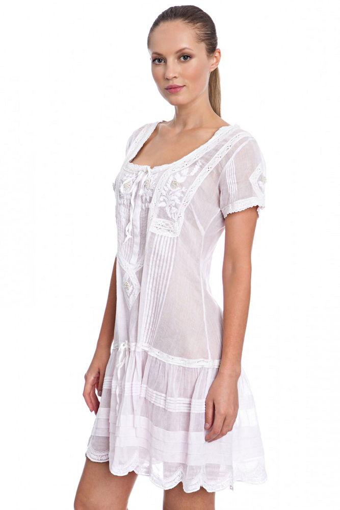 Белое бохо, или Шикарная одежда для королевы летнего пляжа, фото № 33