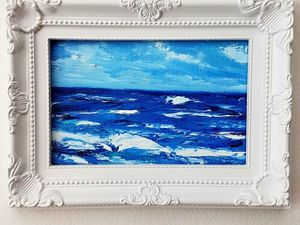Картина - летнее море 10х15 см | Ярмарка Мастеров - ручная работа, handmade