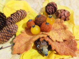Делаем брошь «Осенняя симфония» с применением эко-окрашивания. Ярмарка Мастеров - ручная работа, handmade.