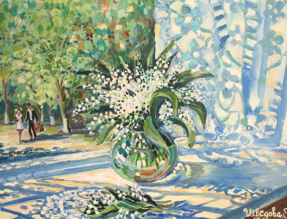 белые цветы, ярмарка мастеров, весна