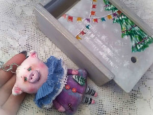 Маленькая свинка ищет Ёлку!. Ярмарка Мастеров - ручная работа, handmade.