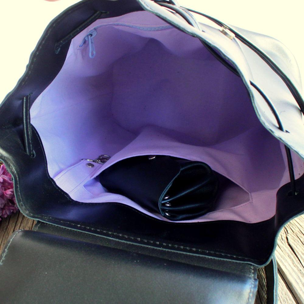 черный рюкзак, городской стиль