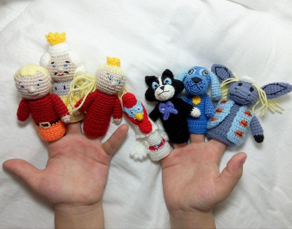корольэпринцесса, кот, пальчиковые куклы