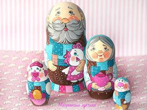 Как Дед с Курочкой Рябой ушли на конкурс. Ярмарка Мастеров - ручная работа, handmade.