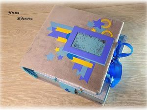 Фотоальбом-дневник и шкатулка  «Мамины сокровища». Ярмарка Мастеров - ручная работа, handmade.