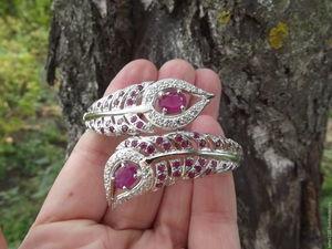 Скидка 20% на шикарный браслет с натуральными рубинами в серебре!. Ярмарка Мастеров - ручная работа, handmade.