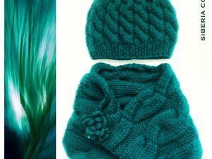 Новая работа Комплект Изумруд (шапка, снуд и брошь). Ярмарка Мастеров - ручная работа, handmade.