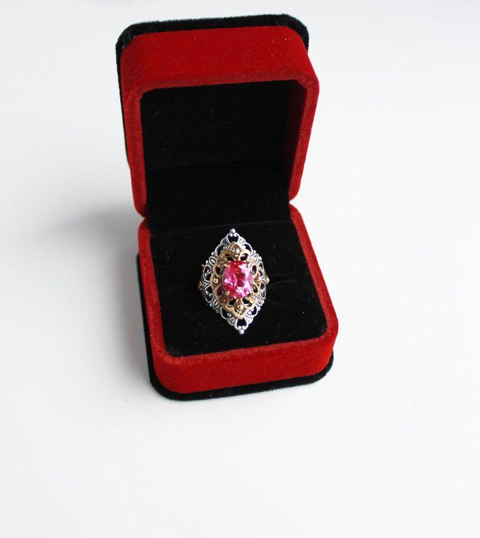 винтажное кольцо рубин