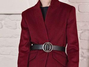 LAVA LOOK пальто-пиджак + пояс сфера. Ярмарка Мастеров - ручная работа, handmade.