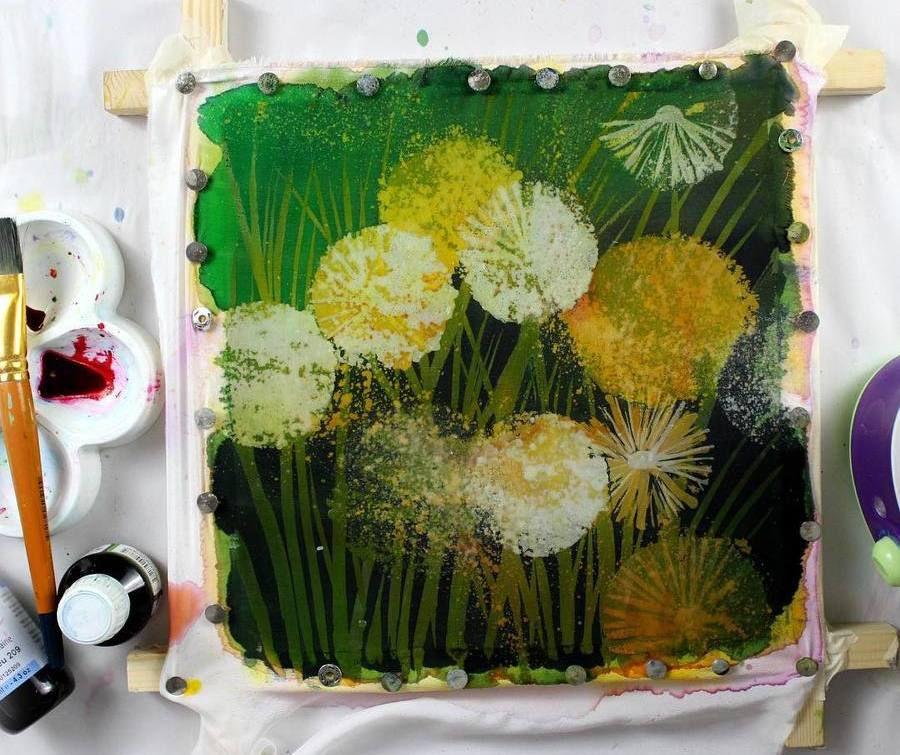 батик, текстиль для дома, свободная роспись, надежда улумбекова