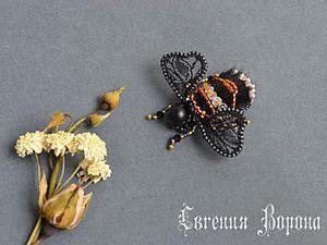 Miniature Bee Brooch DIY. Livemaster - handmade