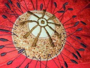 Покрывало лоскутное - МАКИ - лоскутное шитье бывает и вот таким! | Ярмарка Мастеров - ручная работа, handmade