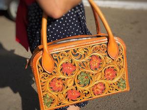 Шьём сумку с тиснением в стиле шеридан. Ярмарка Мастеров - ручная работа, handmade.