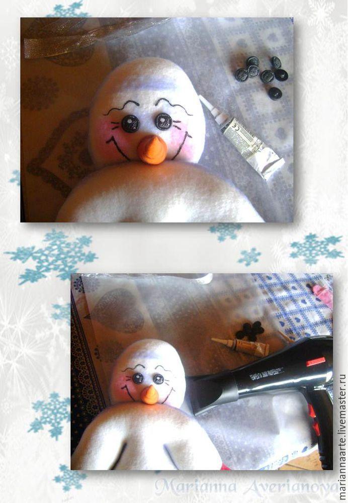 Мастер-класс по созданию забавной новогодней игрушки «Снеговичок-тюфячок», фото № 22