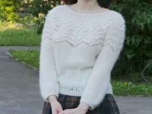 Скидка 10% на новый белоснежный свитер!. Ярмарка Мастеров - ручная работа, handmade.