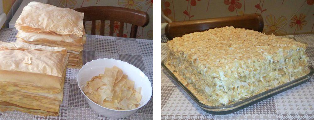 торт, слоеный
