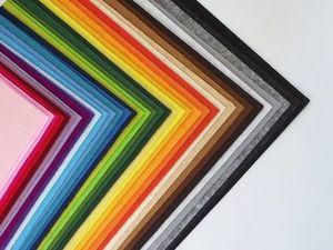 Распродажа фетра 1,2,3 мм. Ярмарка Мастеров - ручная работа, handmade.