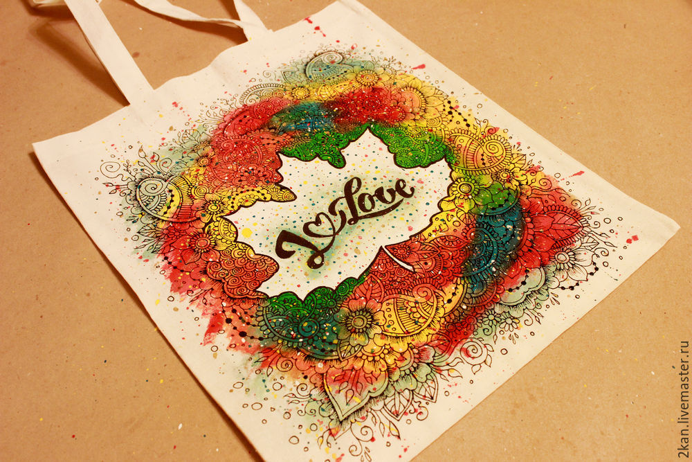 Bright autumn eco-bag with your own hands