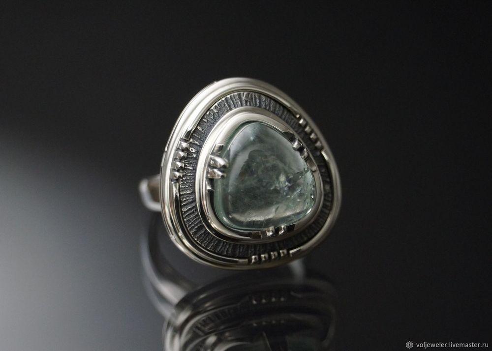 аквамарин, видео колец, кольцо, голубой камень