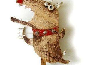 Год Собаки подарок в стиле Лофт. Ярмарка Мастеров - ручная работа, handmade.