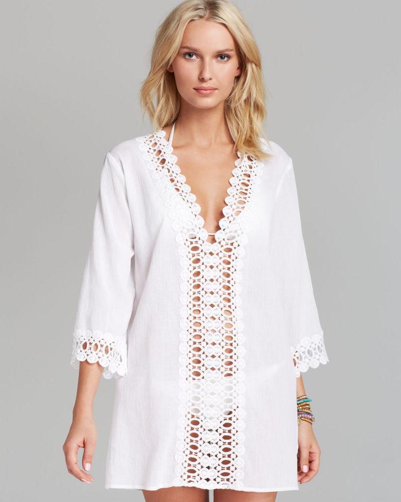 Белое бохо, или Шикарная одежда для королевы летнего пляжа, фото № 74