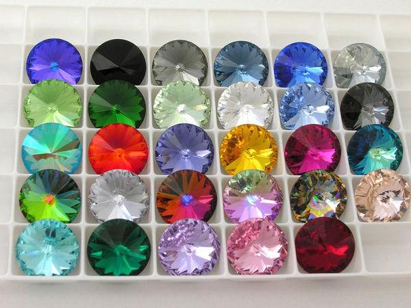 Палитра цветов кристаллов Swarovski диаметром 14 мм ! | Ярмарка Мастеров - ручная работа, handmade