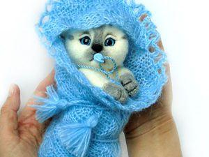 Видео. Валяная игрушка котёнок Лучик. Игрушка из шерсти. | Ярмарка Мастеров - ручная работа, handmade