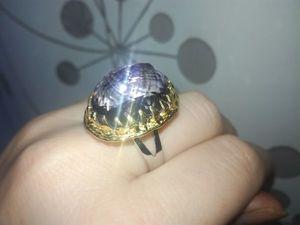 Высокое кольцо с лавандовым аметрином!. Ярмарка Мастеров - ручная работа, handmade.