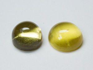 Бериллы желтые 2 лота 2,63 / 2,46 кар. Ярмарка Мастеров - ручная работа, handmade.