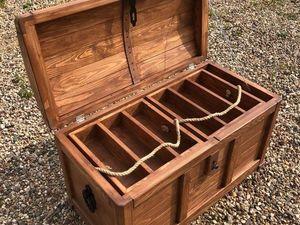 Сундук под алкоголь, №2. Ящик под вино, Короб под вино. Ярмарка Мастеров - ручная работа, handmade.