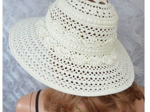 """Видео. Летняя шляпка """"Ваниль"""". Ярмарка Мастеров - ручная работа, handmade."""