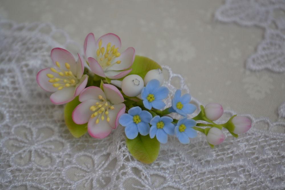 цветы из глины, холодный фарфор