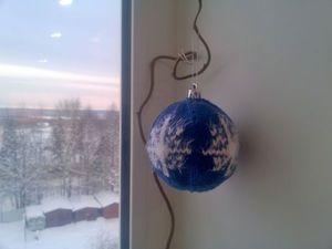 Видеоурок: вяжем елочный шарик спицами. Ярмарка Мастеров - ручная работа, handmade.