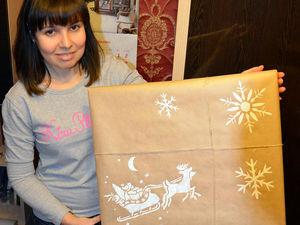 Упаковываем картину в подарок на Новый год!. Ярмарка Мастеров - ручная работа, handmade.