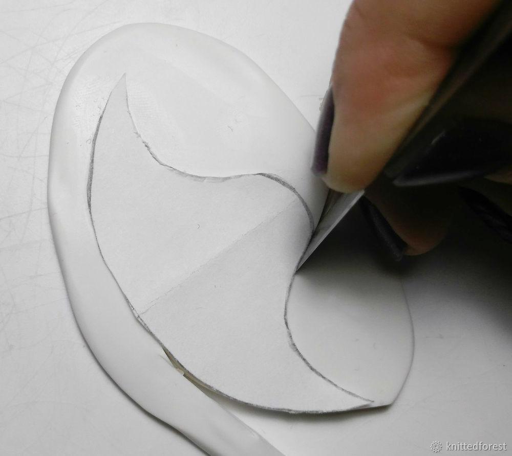 Процесс создания авторской игрушки из полимерной глины. Часть 1. Лепка мордочки, фото № 20