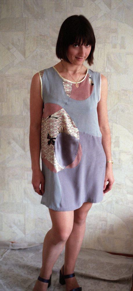 лоскутное миниплатье