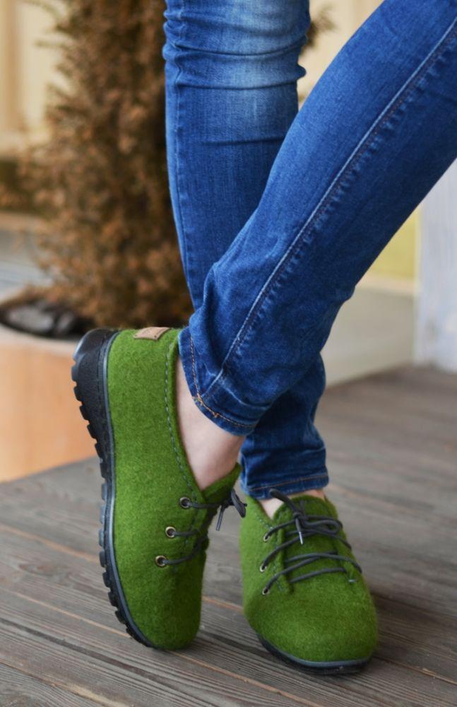 мокрое валяние, обувь для дома