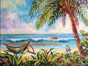 15% скидка на картину маслом «На острове». Ярмарка Мастеров - ручная работа, handmade.