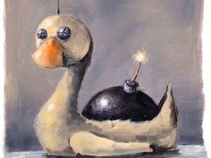 Творческий ежедневник. День 31 (юбилейный). Этюд «Бумбот». Ярмарка Мастеров - ручная работа, handmade.