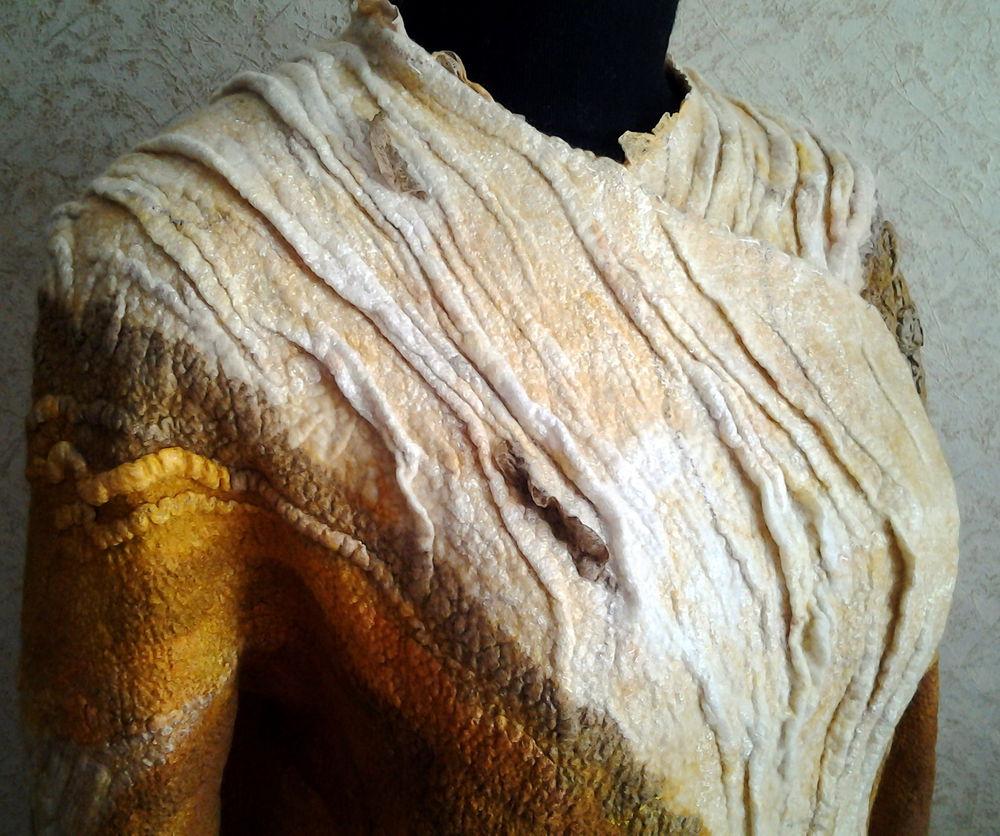 Как мы с Ириной арт-пальто валяли., фото № 9