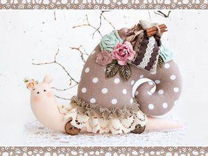 Набор для шитья Кофейной улиточки снова в наличии!!! | Ярмарка Мастеров - ручная работа, handmade