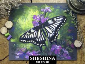 Видеурок: рисуем бабочку сухой пастелью. Ярмарка Мастеров - ручная работа, handmade.