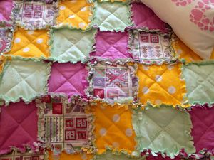 Шьем яркое детское покрывало из квадратов с бахромой | Ярмарка Мастеров - ручная работа, handmade