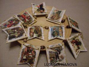 Гирлянда  по мотивам  старой новогодней Европы - Аукцион. Ярмарка Мастеров - ручная работа, handmade.